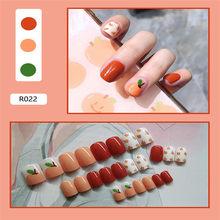 Новые акриловые и пластиковые накладные ногти, водонепроницаемые накладные ногти, 24 штуки в упаковке, маленькие свежие девушки серии TSLM1(Китай)