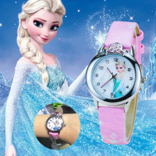 Animierte Film Gefrorene Prinzessin Elsa Ann Cartoon Quarzuhr Kristall Diamant Zifferblatt Uhren Weihnachten Geschenke für Mädchen <span class=keywords><strong>Kinder</strong></span> <span class=keywords><strong>Spielzeug</strong></span>