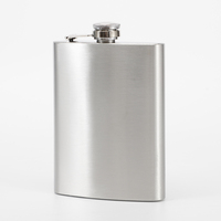 China Oem Customized brown leather 10oz hip flask