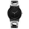 Silver Case Black Face Black Stainless Steel