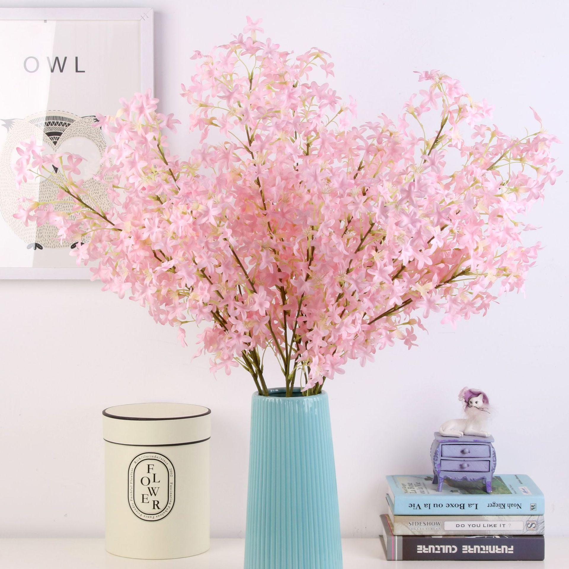 JMCH1001-100CM 2020 New Style Artificial Cherry Blossom Silk Sakura For Wedding Home Decoration