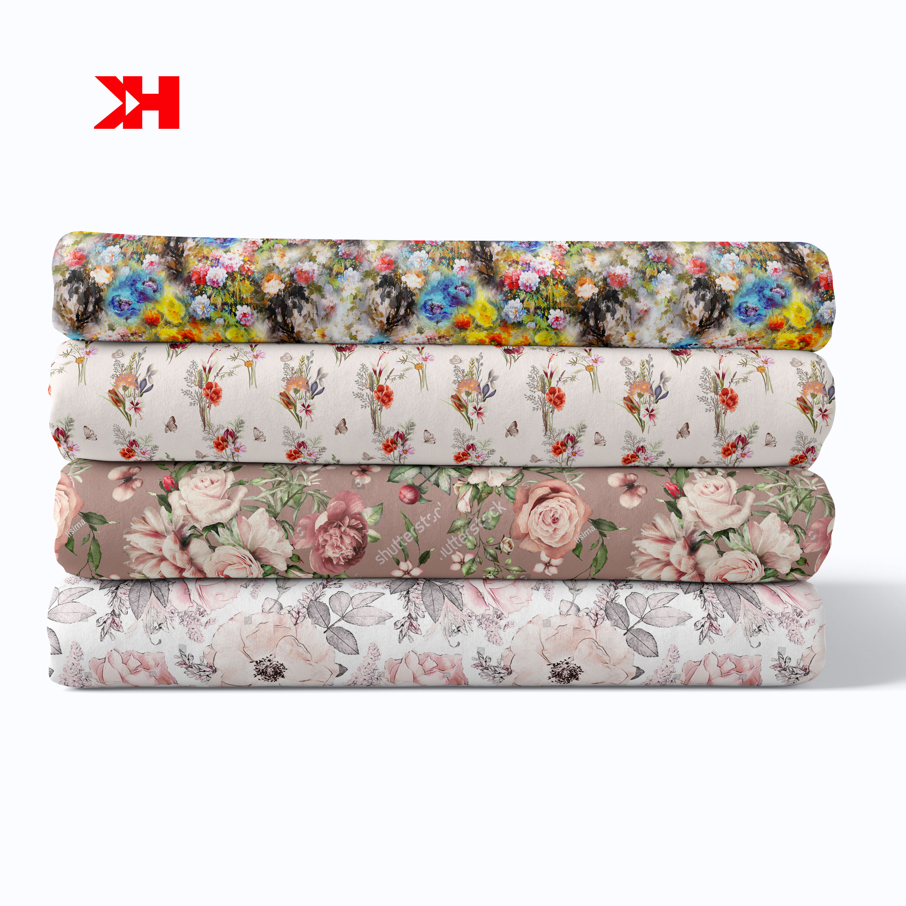 chinese custom eco-friendly textile 32*32 100% organic cotton twill digital printing fabric for clothes