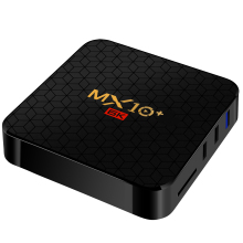ใหม่มาถึง MX10 + DDR3 4GB RAM EMMC 32GB 64GB dual WiFi 6 K Full HD BT 4.0 สมาร์ท Android TV Box MX10 +