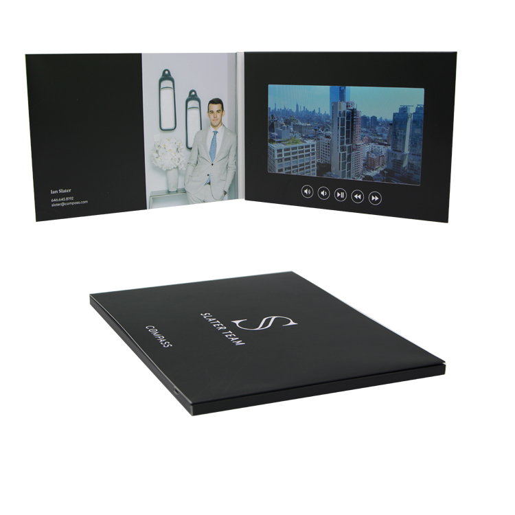 7 Inch HD Screen Digital Lcd Brochure Displayer With Printing For Invitation Video Greeting <strong>Card</strong>