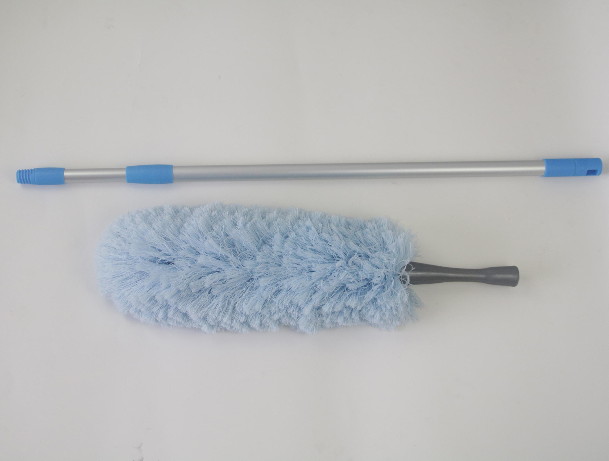 Alat Pembersih Rumah Tangga Warna-warni Microfiber Membersihkan Kain Lap Dapat Menghubungi Tiang Duster