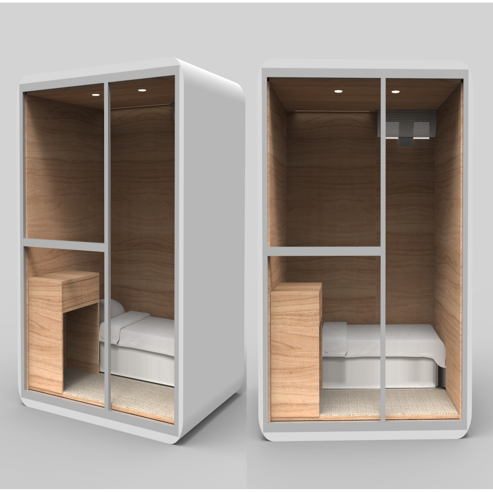 WIMI Stylish SoundproofCapsule Sleeping Pod Hotel Capsule Hotel Room Sleeping Pod