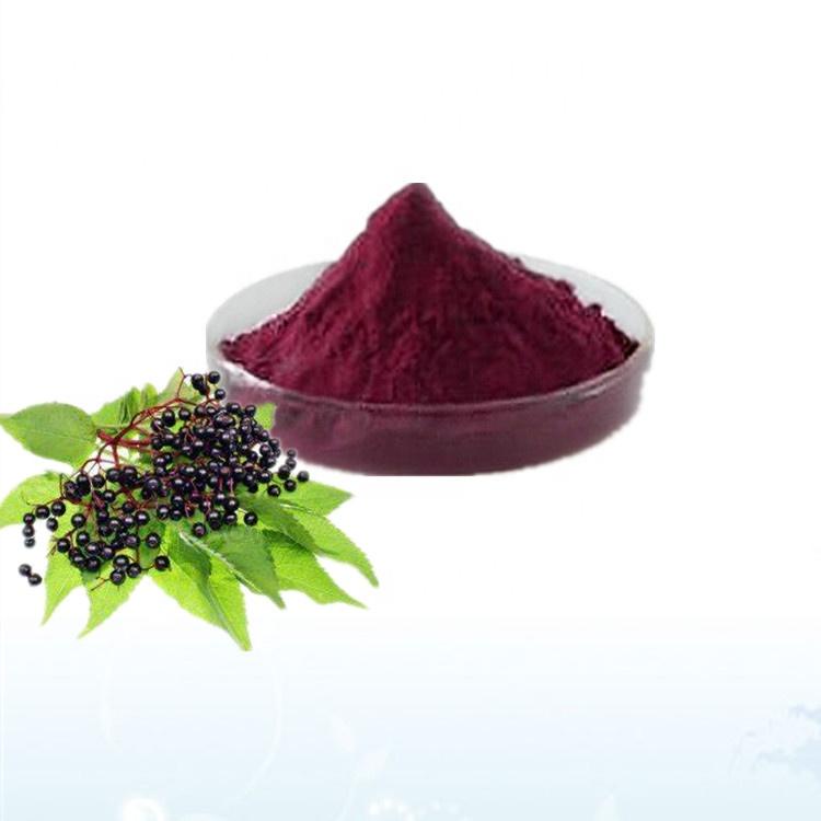 Водорастворимый антиоксидантный материал сушеный черный ягоды/порошок самбукуса нигра/порошок Jie gu mu