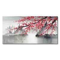 Support customization Chinese Painting Hand Painted Plum Blossom 3d oil painting on canvas