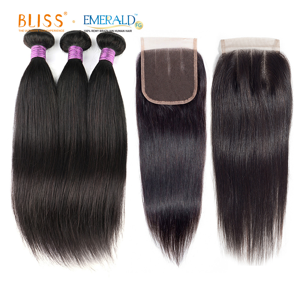 Bliss Emerald Human <strong>Hair</strong> 3 Bundles with Closure
