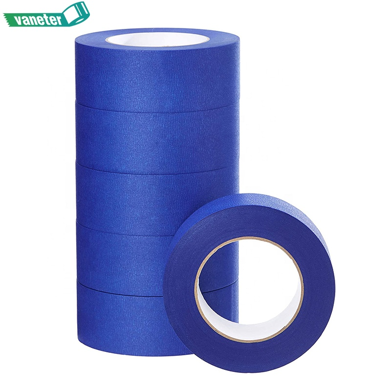 Crepe paper 14 days UV resist blue masking tape, 3M quality masking adhesive blue tape painter