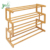 4-Tier Entryway Storage Organizer Shelf, Bamboo Shoe Rack for Home & Office Easy to Assemble