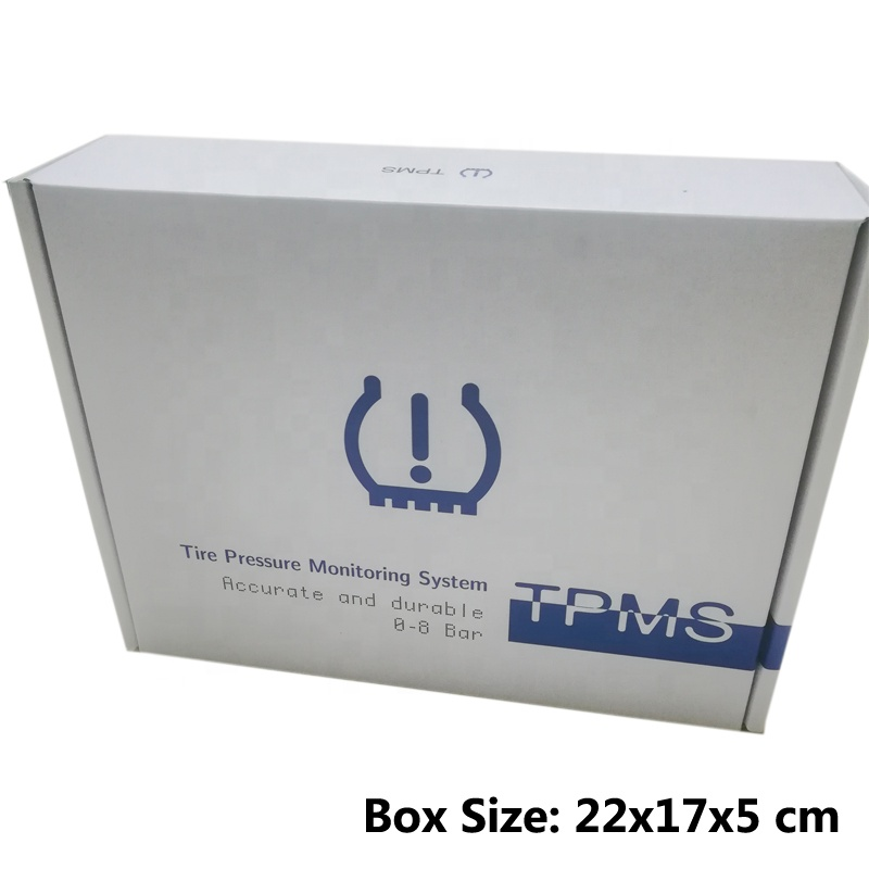 Factory Wholesales 433MHZ TPMS Solar-powered Wireless External Automotive Tire Pressure Warmers White Box Packing