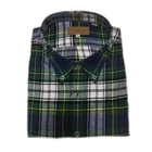 men casual plaid flannel button down shirt with chest pocket