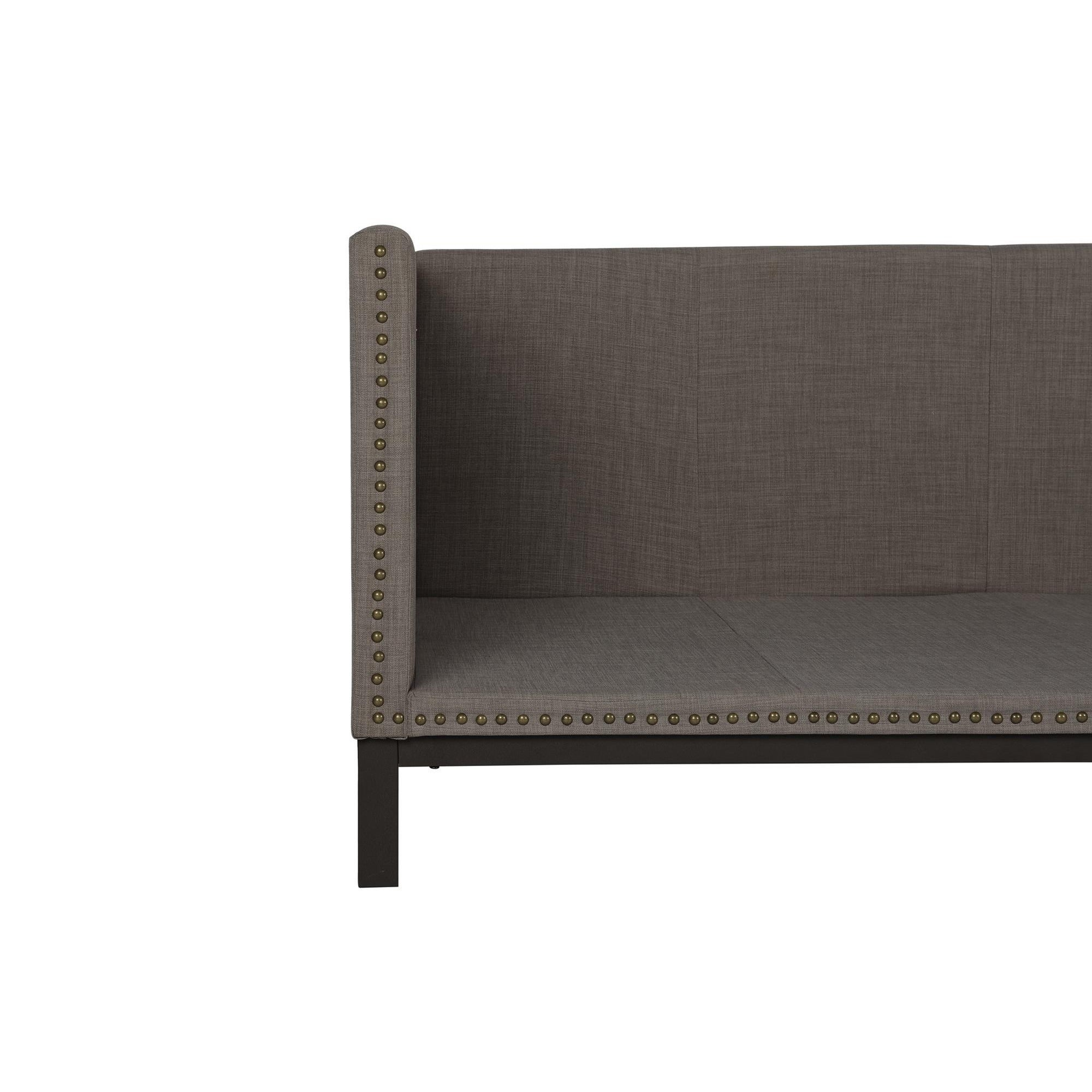 - 2109 Kupfer Hain Alty Mid-century Grau Polster Moderne Daybed