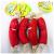 High Quality Red Plastic Hot Dog sausage shape pet chew toy