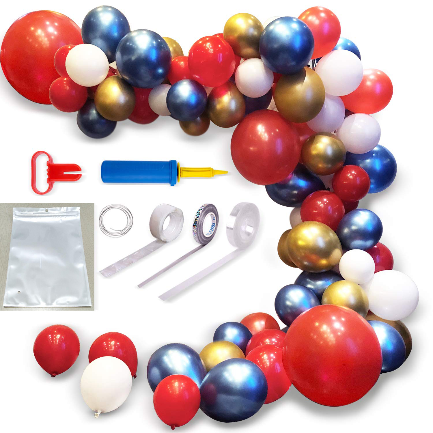 Garland Latex Balloon Arch Ganland Kit 82 Pieces Red Gold Blue Balloons For Baby Showers Weddings Graduations Events Buy 12inch Latex Balloon Arch Bridge Kit Christmas Party Decorations Burgundy Gray Balloons
