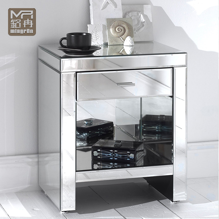 Full Glass Mirrored Bedside Table Bedroom Mirror Furniture Buy Mirror Bed Side Table Modern Mirroed Chest Tables For Living Room Full Glass Beveled Edge Mirror Table Product On Alibaba Com
