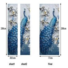 3D красивые пейзажные наклейки на двери для гостиной, спальни, ПВХ, самоклеющиеся обои, домашний декор, водостойкая настенная наклейка, Эко-д...(Китай)