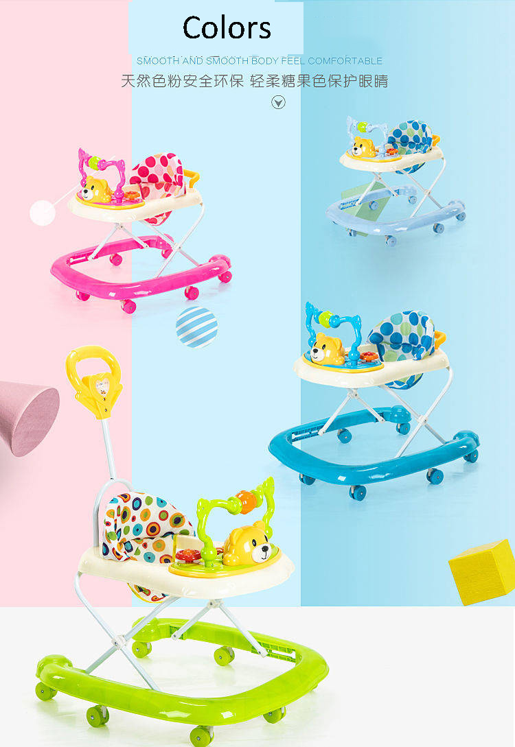 Factory wholesale U shaped baby walkers/cheap price baby walkers/high quality kids walkers