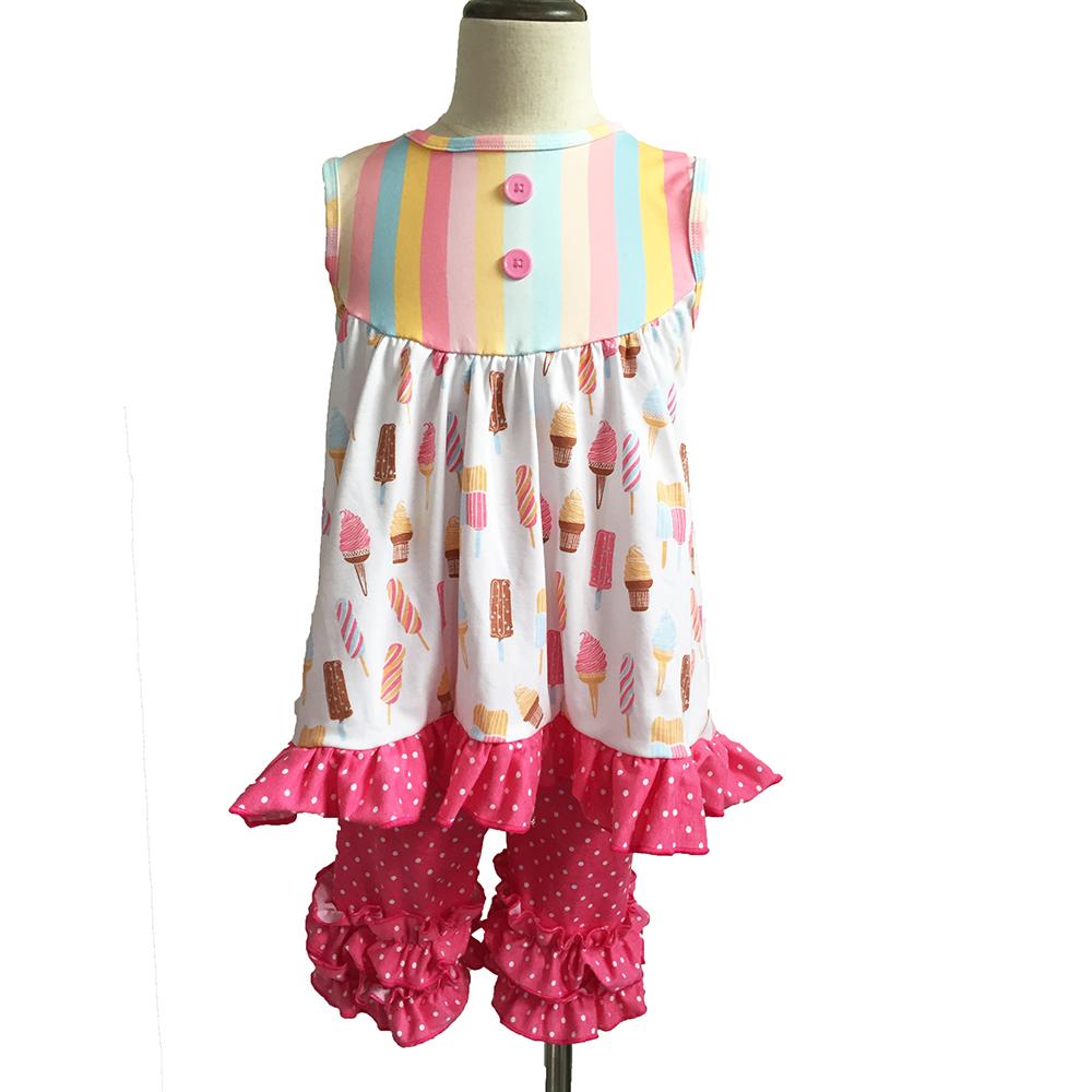 Drop Shipping Pakaian Bayi Perempuan 6 Tahun, Kasual Trendi Gaya Icecreams Pakaian Balita dan Anak-anak Bayi