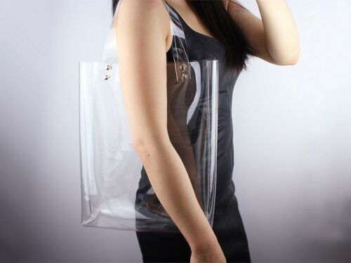 Nice design plastic ladies clear PVC handle bags
