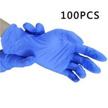 100 шт одноразовые латексные резиновые перчатки Бытовая Чистка эксперимент Кейтеринг Перчатки универсальные левая и правая рука(Китай)