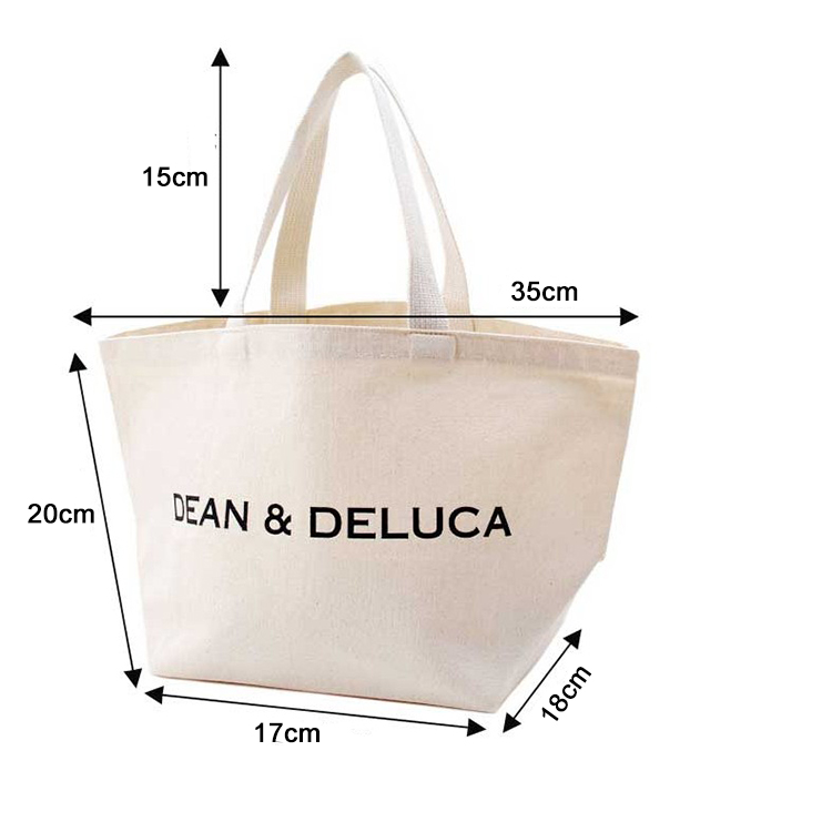 Eco friendly high quality customized organic cotton tote shopping canvas bag