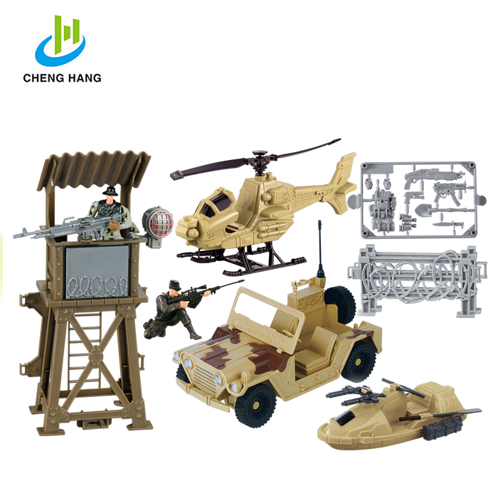 Series of Special force / Military base sentinel army toy set with patrol car truck toy