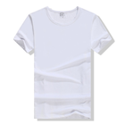 Solf Touch Dye Sublimation Blanks White Moder Polyester Sublimation t shirt China Wholesale Stock