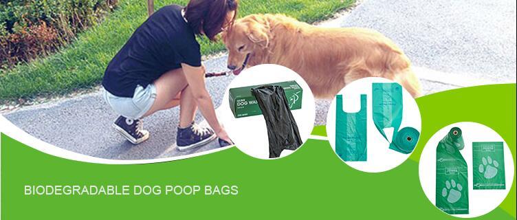 الجملة مخصص الحيوانات الأليفة تنظيف النفايات التعبئة والتغليف 100% نشا الذرة قابلة للتحلل أكياس نفايات مع موزع مع OEM صندوق عرض الشرائح
