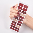 Factory glitter color 3D nail polish sticker nail supplies