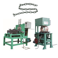 Automatic Steel Wire Iron Twisted Chain Link Making Chain Welding Bending Machine