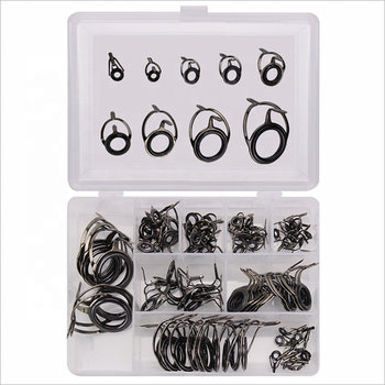 85pcs/box Fishing Rod Guide Ring Set Stainless Steel Guide Tip Eyes In Box Wire Loop Fishing Rod Accessories
