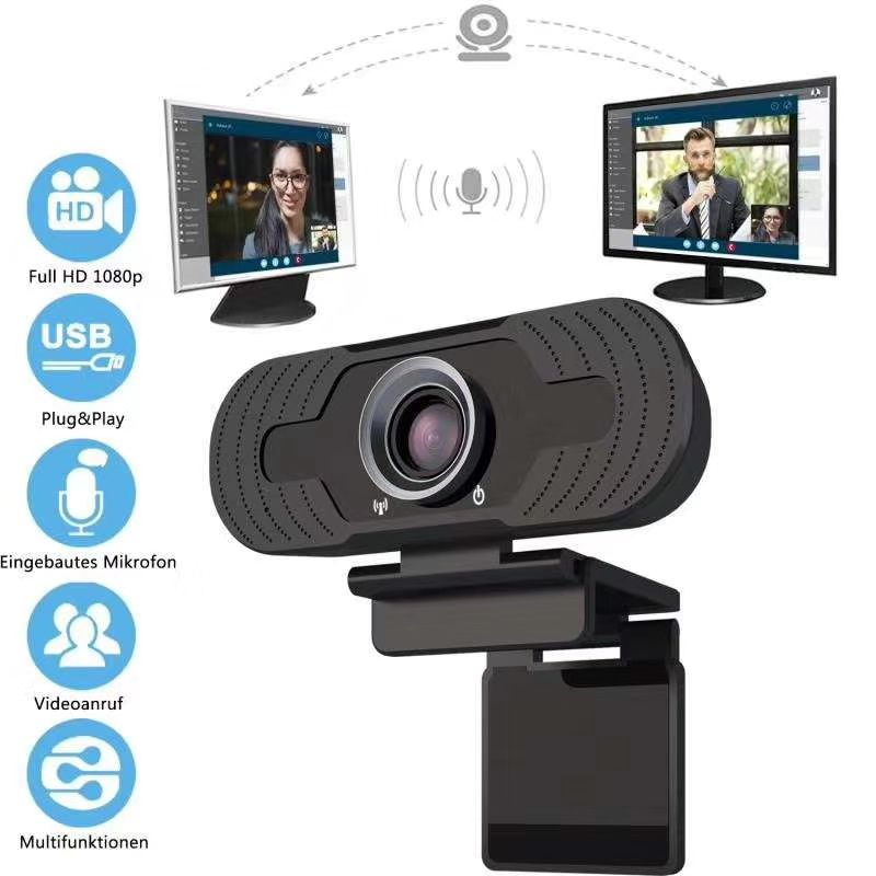 Hot Sell Plug and Play HD 1080P USB2.0 Live Stream Webcam