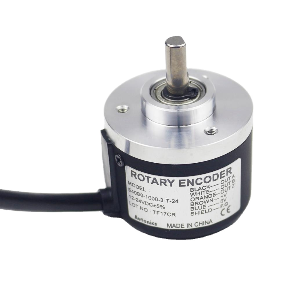 Autonics <strong>Encoder</strong> E40S6-1000-3-T-24 6mm soilid shaft DC 24V 1000ppr Optical <strong>Encoder</strong> 40 mm incremental <strong>rotary</strong> <strong>encoder</strong>