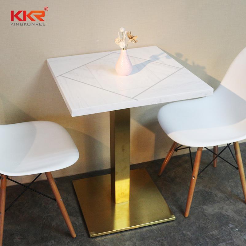 Modern White Narrow 80x80 Dining Table