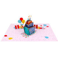 Personalized Birthday Cake 3d Pop Up Greeting Card