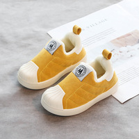 Children's cotton-padded shoes winter style shell head soft bottom warm casual cotton-padded shoes for boys and girls fashion