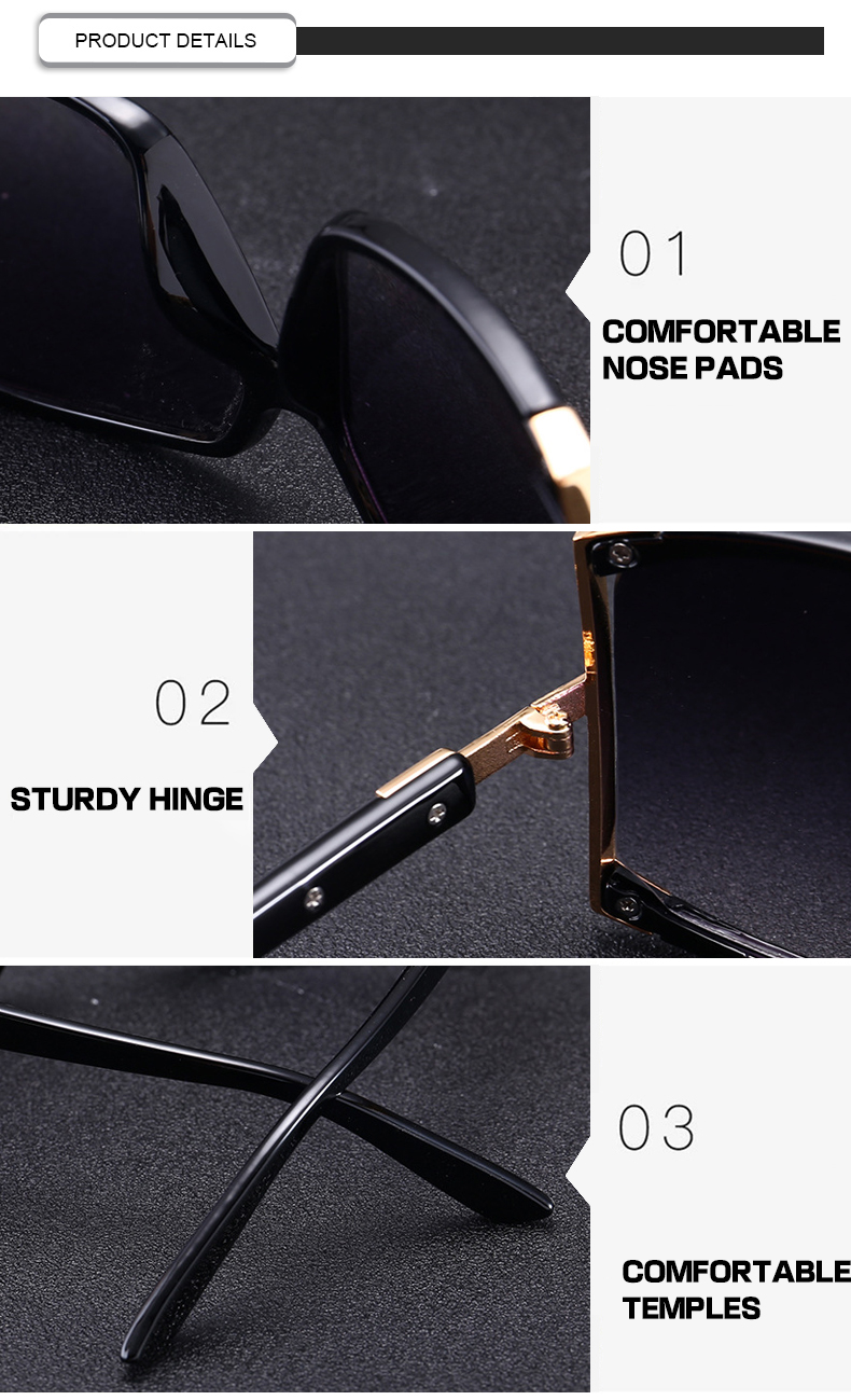 Top gold rim sunglasses for womens Supply for racing-7