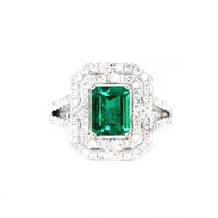 Latest Designs Natural Emerald Diamond Rings Real Gemstone Gold Genuine Jewelry Wholesale Supplier