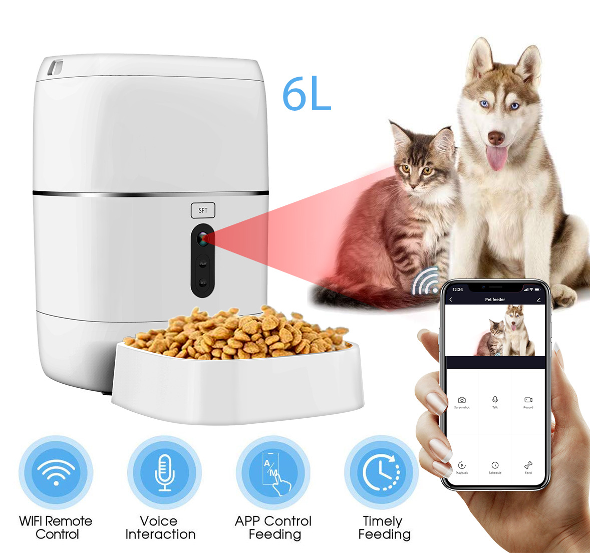 Tuya Smart Wifi Automatic Pet Feeder Food Dispenser For Cats Dogs Buy Pet Feeder Pet Feeder Automatic Pet Feeder Product On Alibaba Com