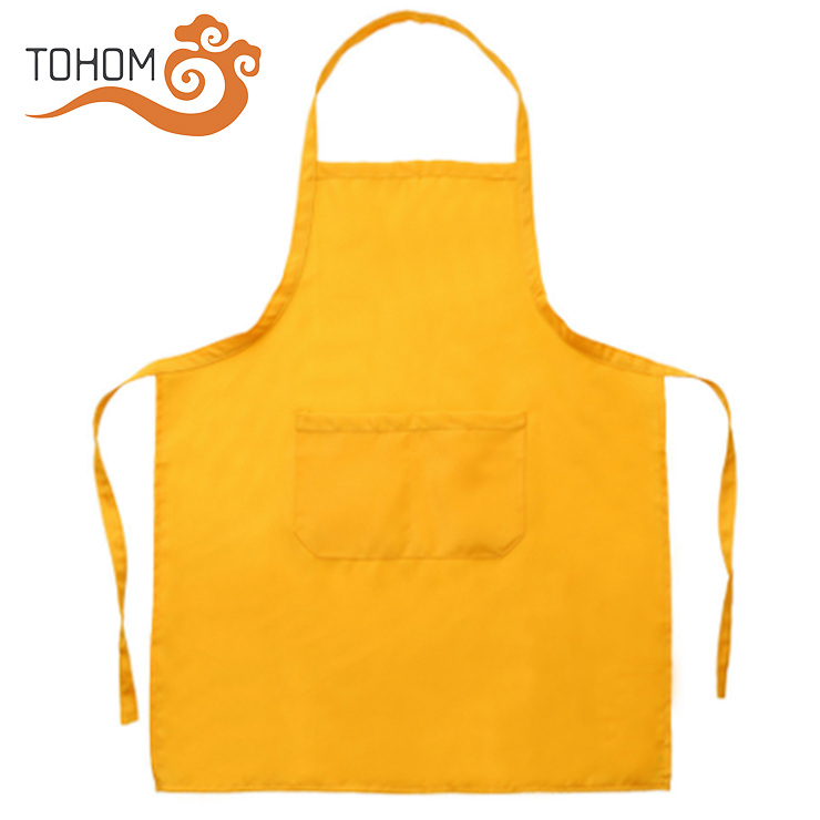 Promotional Cheap Price Polyester Waterproof Uniform Custom Cooking Kitchen Apron With Front Pockets фото