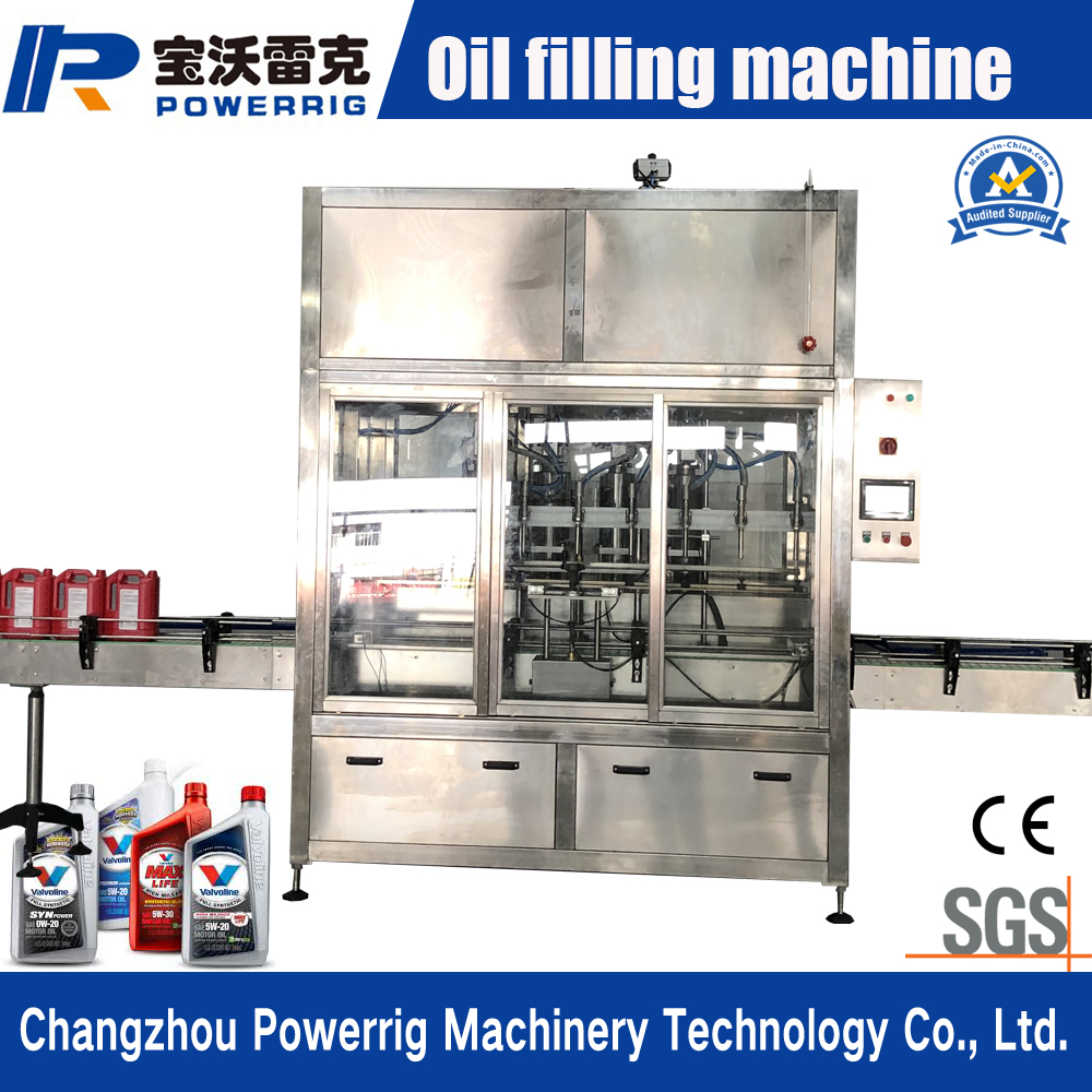 Automatic linear piston lube and lubricating oil petroleum oil filling machine