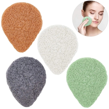 100% Natural Various Colors Water Drop Shape organic Konjac Face Sponge For Facial Cleaning
