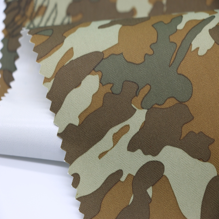 Wholesale 290T taffeta raincoat fabric with pvc coating/camouflage printing military poncho material