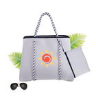 Branded Retro purses Neoprene hand bags core Silk screen shopping tote Oversized beach shoulder women ladies hand bags