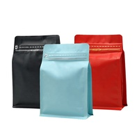wholesale printed one way valve flat bottom stand up zip lock aluminum foil coffee bag