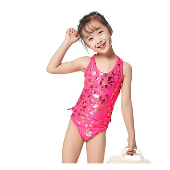 2 pieces sets Old girl gold foil splatter swimwear tankini junior girls swimwear bikini