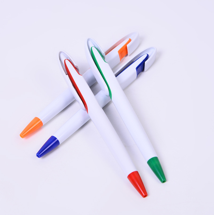 Custom printed plastic advertising ballpoint pen for promotional gifts