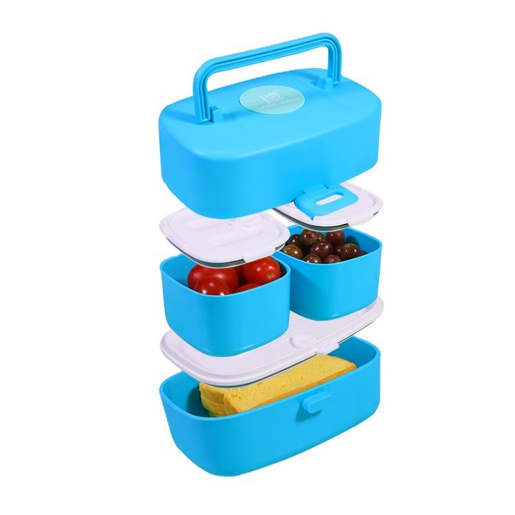Hot Afdichting Leuke Japanse Kerstcadeau 1l School Plastic Bento Lunch Box Set Voor Foodmodern Bento Box